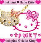 Aki Hoshino is known as a big Kitty fan. She puts on the Kitty necklace at Hello Kitty Accessory Collection.