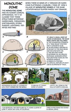 Dome: Virtually Indestructible Universal Dwelling Solution monolithic dome, steven m. johnson, david southmonolithic dome, steven m. Maison Earthship, Earthship Home, Monolithic Dome Homes, Geodesic Dome Homes, Earth Bag Homes, Underground Homes, Natural Homes, Dome House, Natural Building