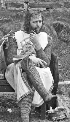Graham Chapman / Monty Python / The Holy Grail. #pipesmoking www.eacarey.co.uk