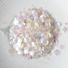 Little Things From Lucy's Cards IVORY Sequin Shaker Mix LB74