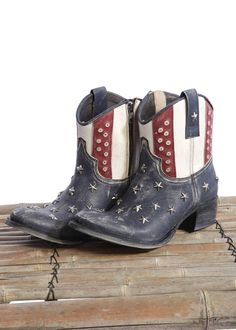 SENDRA Boots Raspado blue <3 Stars and Stripes with Studs