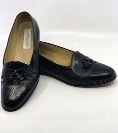 baa8391f16f Mezlan Mens Sz 11 1 2 Mezlan Shoes Barcelona Black Leather Cap Toe Tassle  Loafer
