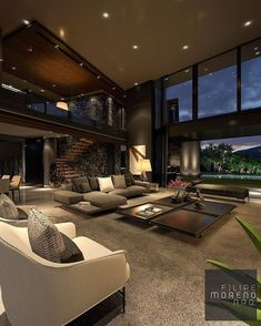 dream rooms for adults . dream rooms for women . dream rooms for couples . dream rooms for adults bedrooms . dream rooms for girls teenagers Modern Home Design, Dream Home Design, Home Interior Design, Modern Homes, House Design, Design Design, Villa Design, Luxury Interior, Patio Interior
