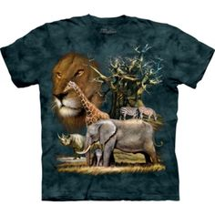 The Mountain Graphic Tee Regular Solid T-Shirts for Men College T Shirts, African Animals, Cotton Tee, Graphic Tees, Classic T Shirts, Collage, Mens Tops, Mountain, Products