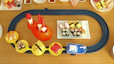Your child's first conveyor belt sushi play set.