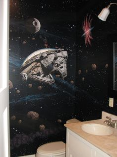 Star Wars Bathroom ...That is awesomeness. :)
