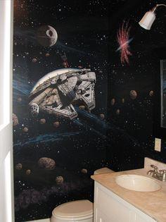 Star Wars Bathroom ...That is awesomeness. :)