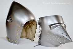 """Italian """"Bassinet"""" Helmet circa 1390 - A69 in the Wallace Collection - Royal Oak Armoury"""