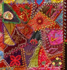 One Of The Centre Patches | Part of the Crazy Quilt with Gra… | Flickr