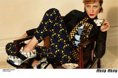 Chloe Sevigny killing it in the Miu Miu FW12 campaign.
