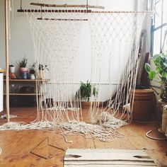 Macrame window displays are nearly finished for @nedluddpdx !!!!!