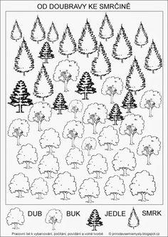Výsledek obrázku pro stromy a keře pracovní listy Green Day, Montessori, Worksheets, Diagram, Fall, Nature, Trees, Google Search, Autism