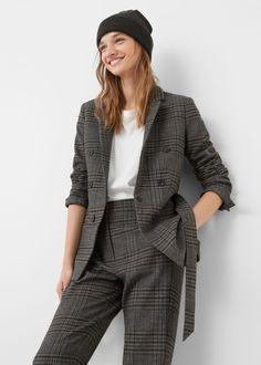 Check suit blazer - Jackets for Woman   MANGO USA