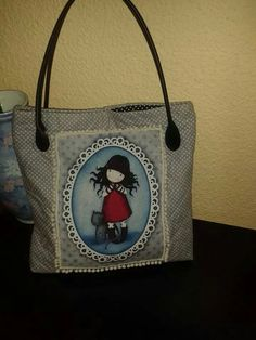 Gorjuss Burlap, Reusable Tote Bags, Wallet, Fabric, Crafts, Fabric Handbags, Gingham Quilt, Art Crafts, Denim Handbags