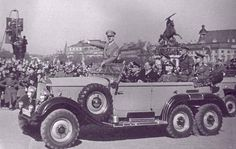Hitler's armoured Mercedes, probably taken in 1938 after the Anschluss.