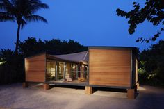 A low-cost beach house designed in 1934 by architect Charlotte Perriand was built 80 years later by Louis Vuitton. | www.facebook.com/SmallH...