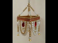 Diwali Decoration Idea 2019, How to make a Jhoomar, DIY Easy Pearl Chandelier, Pearl Wall Hanging, - YouTube