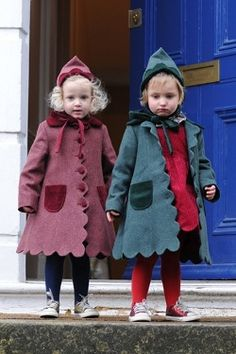 love these two little munchkins ... and those amazing coats