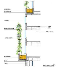 30 Schemes and constructive details for a sustainable architecture - via © Enrique Browne + Borja Huidobro - Coupes Architecture, Green Architecture, Concept Architecture, Architecture Details, Pavilion Architecture, Landscape Architecture, Drawing Architecture, Architecture Durable, Sustainable Architecture