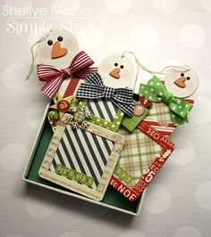 Papered Cottage by Shellye McDaniel: The Snowmen Have Been Framed! #diy_christmas #tags #ornaments @simple