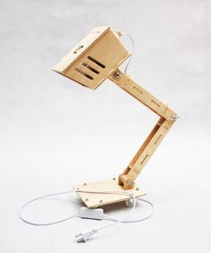 diy wooden desk lamp