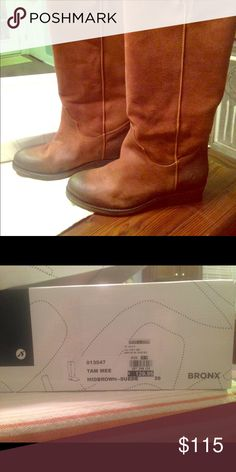 Ladies Bronx boots. Ladies Bronx boots. Tan/brown leather boots. Brand new in box, never worn bronx Shoes Winter & Rain Boots