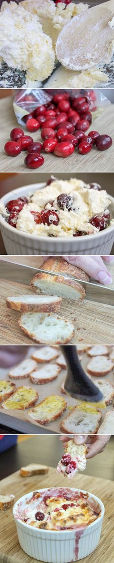 Baked White Cheddar & Cranberry Dip