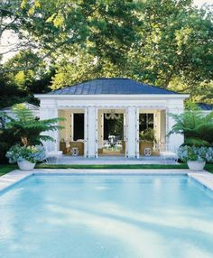 airy pool house