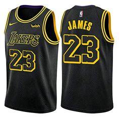 04b6cb48018 Lebron James #23 Los Angeles Lakers Cool NBA Basketball Swingman Men's  Jersey- Black