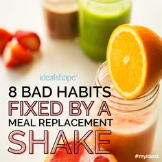 These are the 8 biggest reasons people gain weight! This isn't Advocare, but you COULD use Advocare Meal Replacement Shakes! Healthy Smoothies, Healthy Drinks, Smoothie Recipes, Healthy Snacks, Green Smoothies, Healthy Habits, Get Healthy, Healthy Tips, Think Food