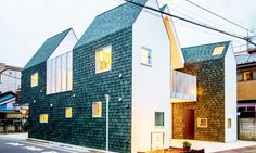This daylit house and office space in Tokyo was designed as three attached volumes that can be shrunken down in case the owners had to give up part of the lot due to the city's road-building plans. Architecture studio Starpilots designed the building, namedHousecut,in a way that would allow the family, who had been running a funeral company for years, to adjust to potential changes and provide them with both a living area and an office space.
