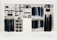 """Wardrobe built-in design. Click through for a Houzz article """"Design your closet for the real world"""""""