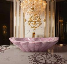 Your Luxury Bathroom Decor Needs A Rose Quartz Crystal Bathtub! Dream Bathrooms, Beautiful Bathrooms, Master Bathrooms, Luxury Bathrooms, Luxury Bathtub, White Bathrooms, Master Baths, Modern Bathrooms, Marble Bathrooms