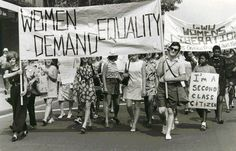 US Primary Sources: Women's Liberation March Women's Liberation Movement, Womens Liberation, Primary Sources, Photo Wall, History, Hourglass, 1950s, March, Google Search