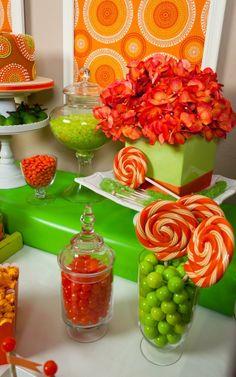 (Orange party 7 of 11 ) Beautiful details—orange dessert table—love this on trend look (& orange isn't my color)❣ Debbie Kennedy • Flickr