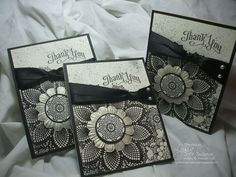 Three Perfectly Penned Thank Yous - Song of My Heart Stampers