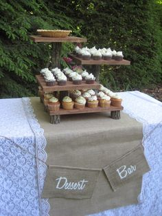 Rustic Burlap Wedding Decor | Reserved for Lacy Lange Burlap Banner Rustic Wedding Decor Dessert Bar ...