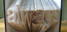 Folded book art, always, by Dancing Grey Studio