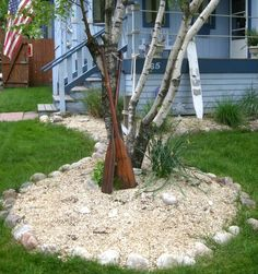 Coastal Decor, Beach, Nautical Decor, DIY Decorating, Crafts, Shopping | Completely Coastal Blog: Nautical Garden & Landscaping Ideas from a Home that Goes all the Way