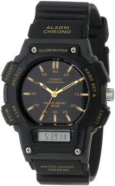 Casio Men%27s AQ150W-1EV Ana-Digi Chronograph Sport Watch