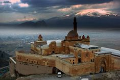 Ishak Pasha Palace, lies on the Silk Road, is near Mount Ararat, in Agri, Turkey