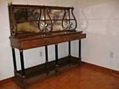 Vintage Dining Room Buffet Or Sideboard With Mirror Back On Kijiji Montreal