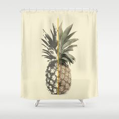 Shower Curtain featuring Double Pineapple by Akaink