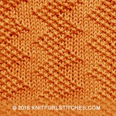 Zigzag seed stitch, so cool! Created by just using knit and purl stitches Zigzag seed stitch, so cool! Created by just using knit and purl stitches Knit Purl Stitches, Knitting Stiches, Knitting Charts, Loom Knitting, Knitting Squares, Dishcloth Knitting Patterns, Knit Dishcloth, Seed Stitch, How To Purl Knit