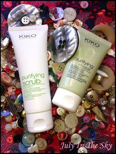 July In The Sky, mon blog Beauté, Mode et Lifestyle: La guerre des boutons, mes armes anti-imperfections et anti-acné avec le Purifying Scrub et le Purifying Mask de Kiko !