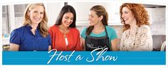 Host a Pampered Chef Cooking Show, Try before you buy. A Cooking Show is the perfect place to try out our tools. You and your guests help prepare a recipe using the tools, and you can also check out the other products your Consultant brings for you to see.