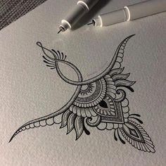 High back tattoo – nape Mandala Tattoo – Fashion Tattoos Kunst Tattoos, Body Art Tattoos, New Tattoos, Tattoo Drawings, Tattoo Sketches, Small Tattoos, Weird Drawings, Trendy Tattoos, Unique Tattoos