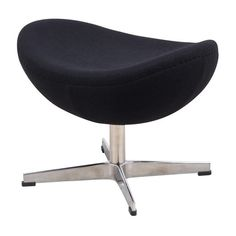 LeisureMod Black Modern Modena Black Wool Egg Chair Ottoman Free... (415 CAD) ❤ liked on Polyvore featuring home, furniture, modern home furniture, onyx furniture, black furniture, mod furniture and black modern furniture