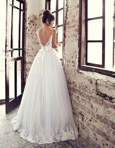 Robe de mariée princesse avec dentelle