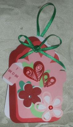 FOR Mom Handmade Embellished Gift Tag/card by NakedAndTrimmedTrees, $4.50